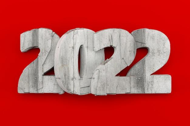 2022 koncepcja postaci kamienia, renderowanie 3d