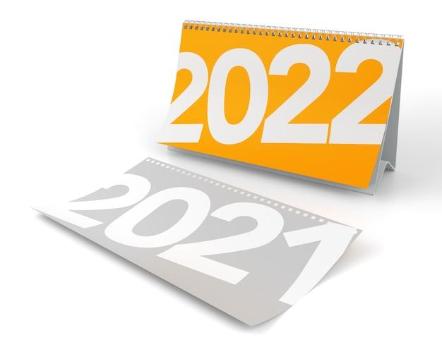 2022 nowy rok kalendarzowy tło renderowania 3d