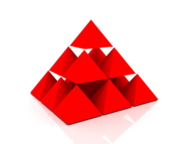 3d abstrakcyjna koncepcja piramidy