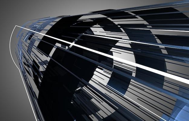 3d abstrakcyjna konstrukcja przestrzeni tła. ilustracja 3d