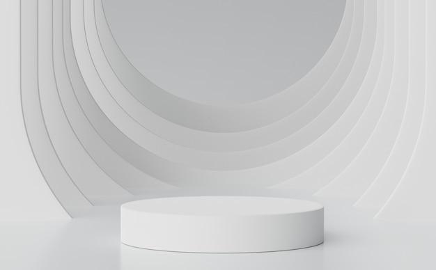 3d abstrakcyjna minimalna scena pastelowego wyświetlacza podium