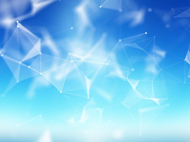 3d abstrakcyjne tło z niską konstrukcją splotu poli