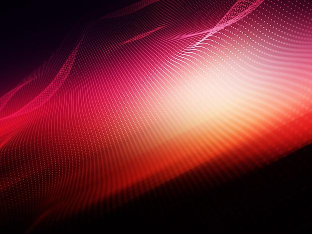 3d abstrakcyjne tło z płynących kropek cząstek