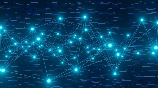 3d abstrakcyjny projekt linii danych