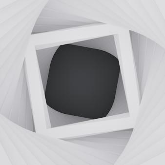 3d abstrakta geometryczny kwadratowy ramowy biel