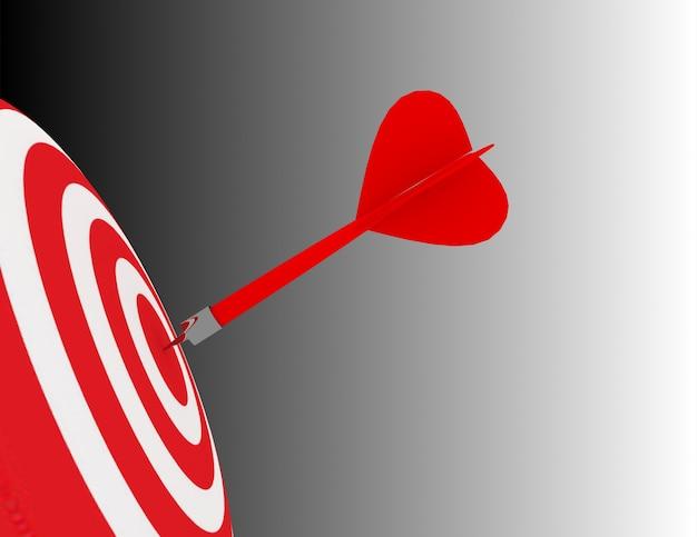 3d cel biznesowy lub cel. koncepcja sukcesu