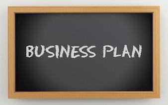 3d chalkboard z planu biznesowego tekstem