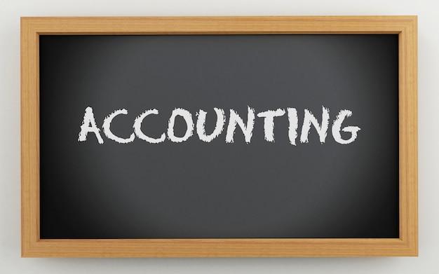 3d chalkboard z tekstem rachunkowości