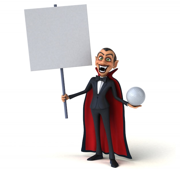 3d charakter wampira ilustracja