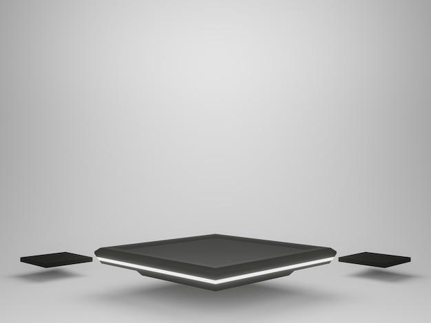 3d czarno-białe futurystyczne stoisko