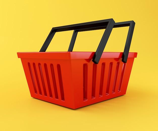 3d czerwony koszyk