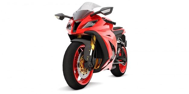 3d czerwony super sportowy motocykl
