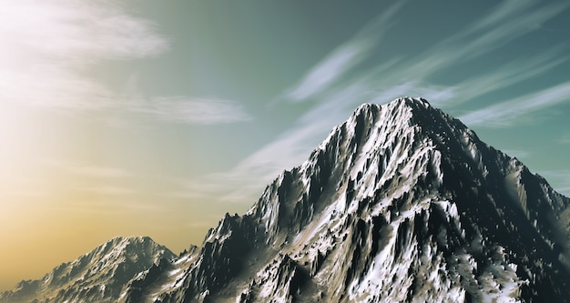 3d czynią z snowy góry