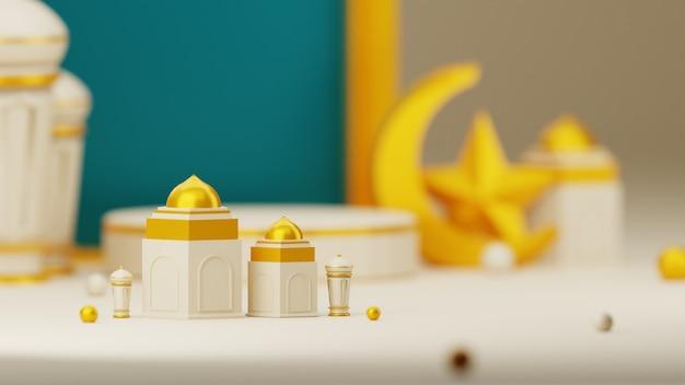 3d eid mubarak tło