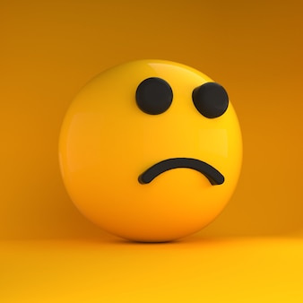 3d emoji smutny