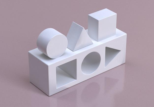 3d geometryczne kształty logiczne myślenie logika biznesowa koncepcyjna ilustracja renderowania 3d