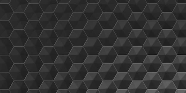 3d geometryczne streszczenie sześciokątne tapeta tło