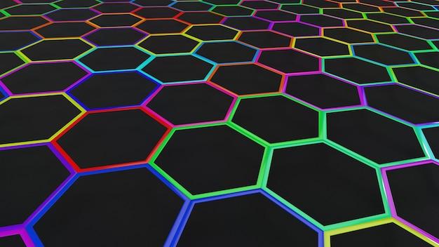 3d geometryczne streszczenie tło