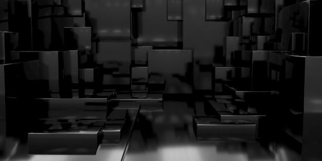 3d geometryczny abstrakcyjne tło prostopadłościanów