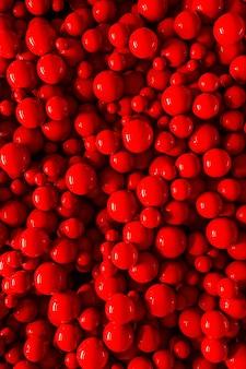 3d gumowe bąbelki dynamiczne odbijające się kulki reklama na czerwonym jasnym tle kreatywny szablon