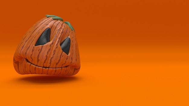 3d halloweenowy tło z baniami