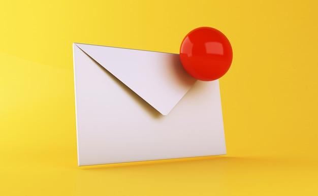 3d ikona nieprzeczytanych wiadomości e-mail