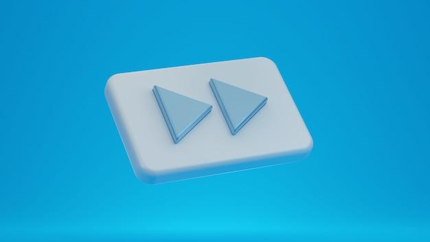 3d ikona przycisku szybkiego przewijania do przodu.
