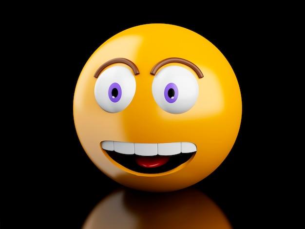 3d ikony emoji z wyrazy twarzy.