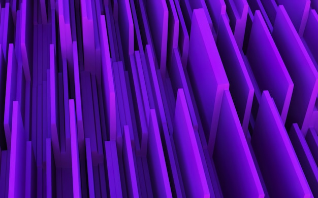 3d ilustracja abstrakcyjne fioletowe paski koncepcja renderowane abstrakcyjne tło elementu