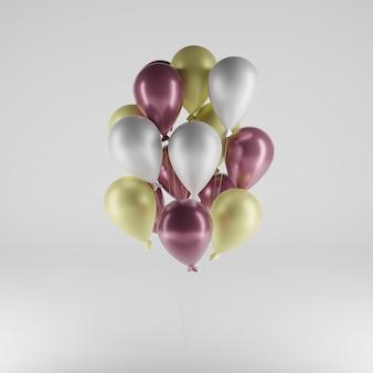 3d ilustracja balonów na uroczystości