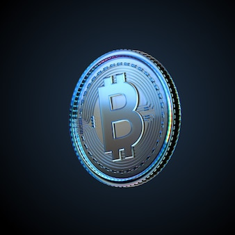 3d ilustracja bitcoin kryptowaluty cyfrowej