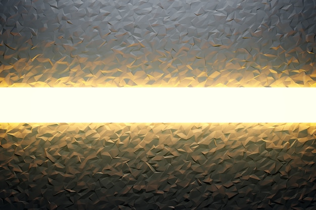 3d ilustracja czarny wzór w geometrycznym stylu ozdobnym z promieniem neonu