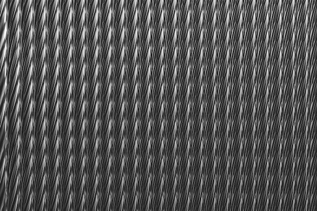 3d ilustracja goły jasny drut na szpuli. rząd miedzianego drutu