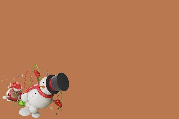 3d ilustracja prezent od świętego mikołaja w boże narodzenie