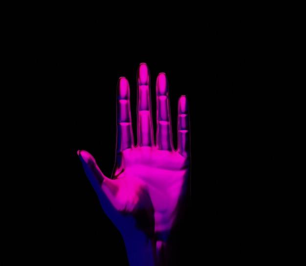 3d ilustracja ręcznie abstrakcyjne tło błyszczące kolorowe