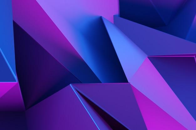 3d ilustracja różowe i niebieskie rogi, wzór splotu.