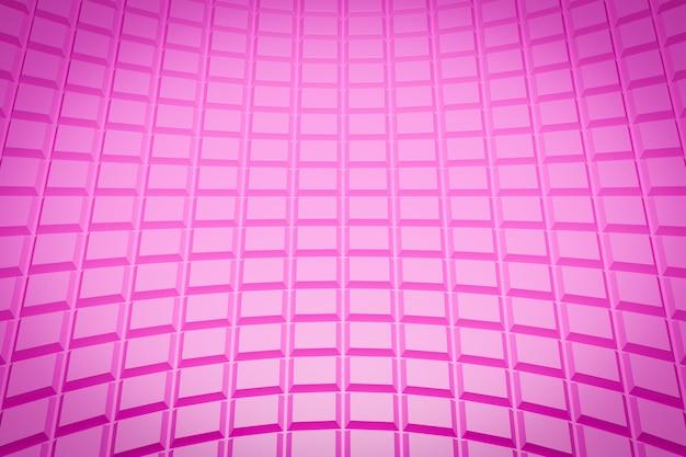 3d ilustracja różowy wzór, komórka w geometrycznym stylu ozdobnym z pasków.