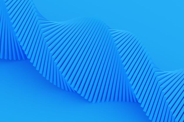 3d ilustracja taśmy stereo w różnych kolorach. uproszczona niebieska linia dna