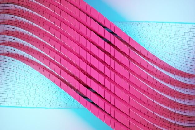3d ilustracja taśmy stereo w różnych kolorach.