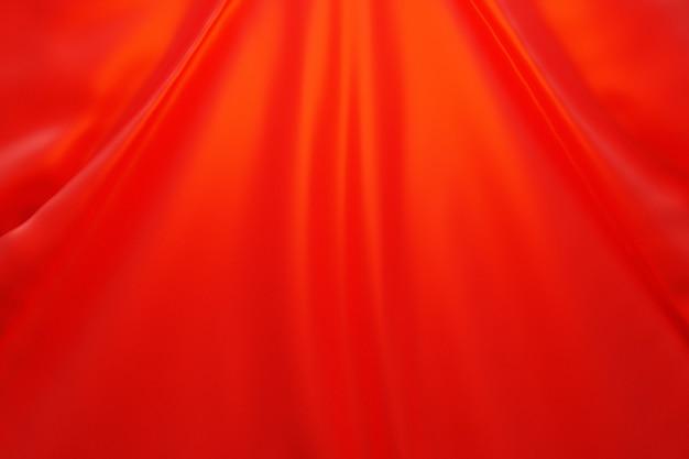 3d ilustracja tekstury czerwonej naturalnej tkaniny z fałdami abstrakcyjne tło f