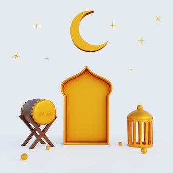 3d ilustracja tła ramadan