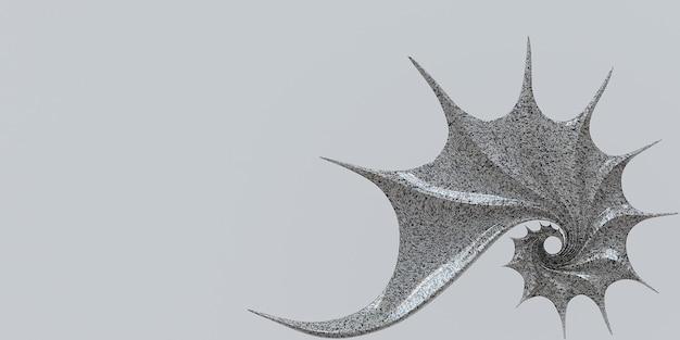 3d ilustracja złoty stosunek nautilus muszla fibonacciego symetria spiralna struktura wzrost