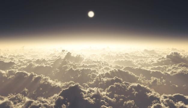 3d ilustracji wysokie chmury