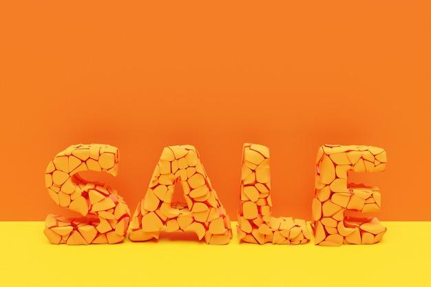 3d ilustracyjny projekt transparentu mega duży sprzedaży z napisem sprzedaż. szablony tagów ze specjalnymi ofertami do zakupu
