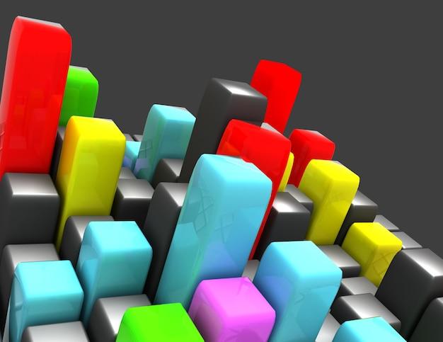 3d kolorowe kostki abstrakcyjne tło
