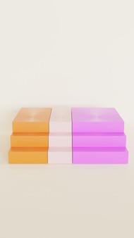 3d kolorowe schody do wyświetlania produktu