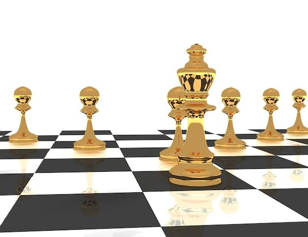 3d koncepcja lidera szachowego