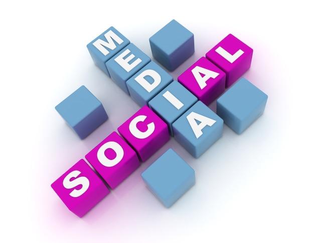 3d koncepcja mediów społecznościowych