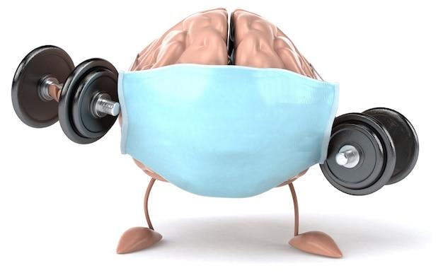 3d koncepcja mózgu z maską