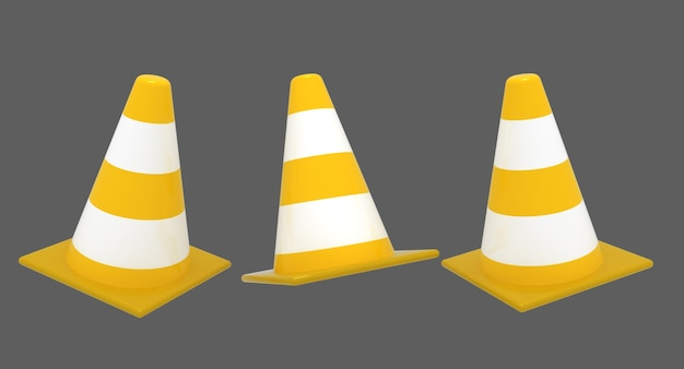 3d koncepcja stożka ruchu .3d renderowana ilustracja